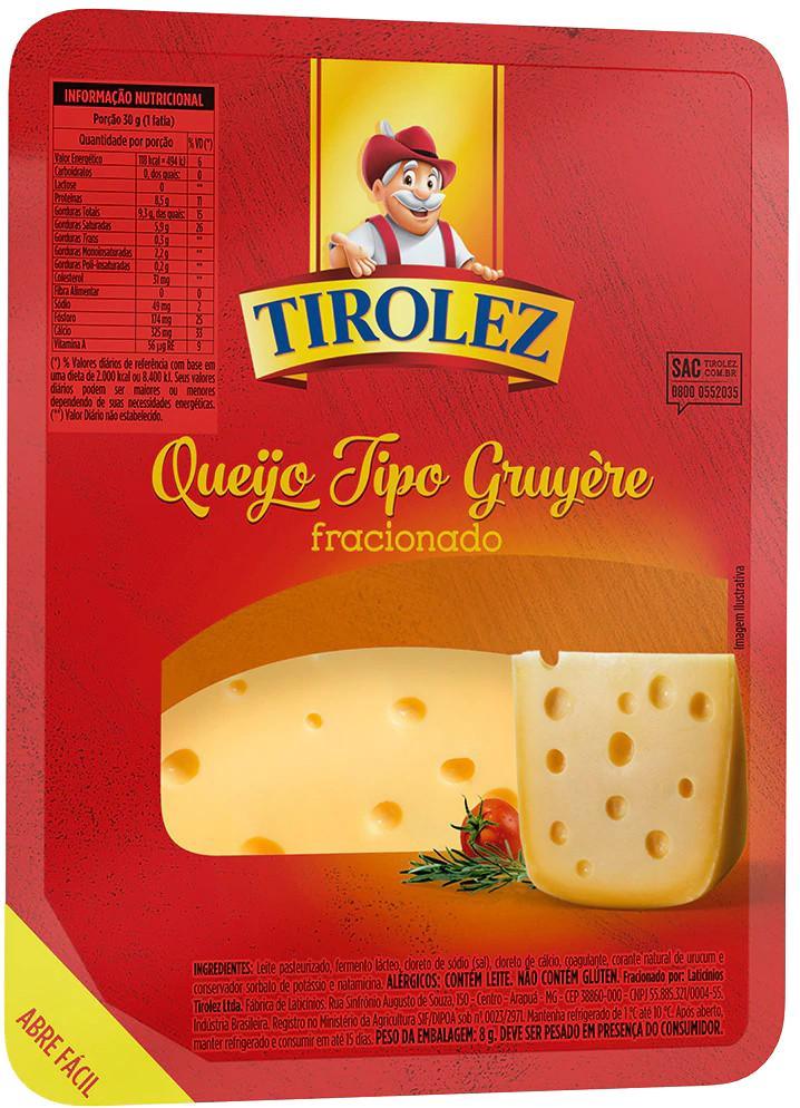 QUEIJO TIROLEZ GRUYERE 100G
