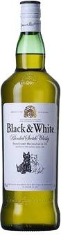 WHISKY ESCOCÊS BLACK AND WHITE 1L